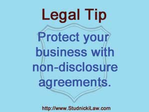 Protect your business with non-disclosure agreements