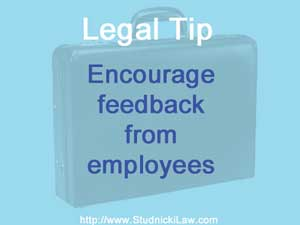 Encourage feedback from employees