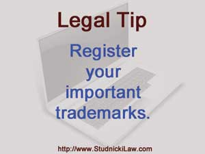 Register your important trademarks