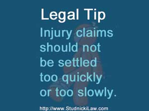 Injured? Don't settle too quickly or too slowly