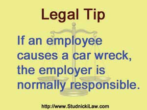 Employer responsible for employee