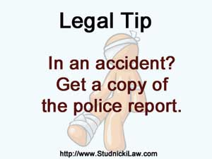 Get a copy of the accident report