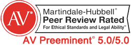 Martindale-Hubbell Peer Rated AV Preeminent 5.0/5.0